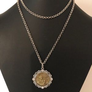 "EUC‼️Brighton ""La Musique"" Jeweled Coin Necklace"